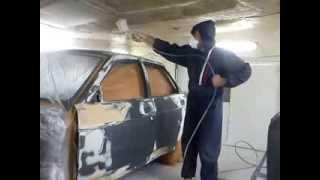 Процесс подготовки к грунтованию и покраска