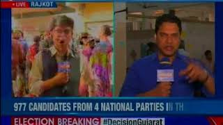 Gujarat Assembly Polls 2017:Voting underway in JH Ambani Saraswati Vidyamandir polling booth, Surat - NEWSXLIVE