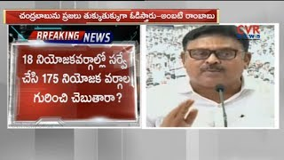 YCP Ambati Rambabu Comments On CM Chandrababu Naidu | CVR News - CVRNEWSOFFICIAL