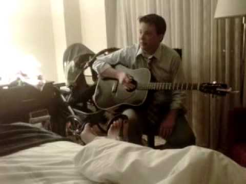 Hotel room chat-Tony tries to play guitar