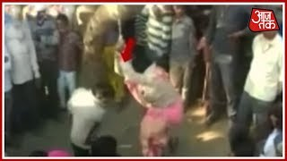 Woman Violently Beaten Up By Husband In Doubts Of Extra Marital Affair - AAJTAKTV