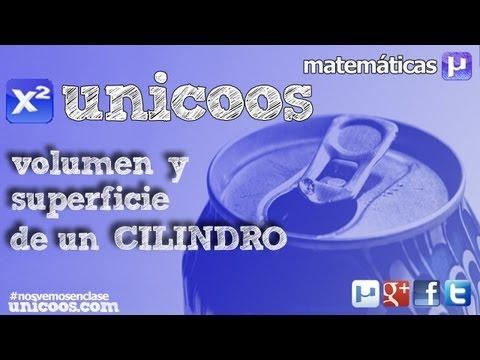 Volumen y superficie de un CILINDRO 3ºESO unicoos matematicas