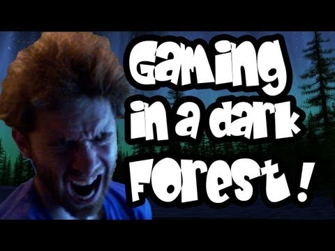 Slender - SCARIEST TIME GAMING EVER! Slender in a forest at Midnight
