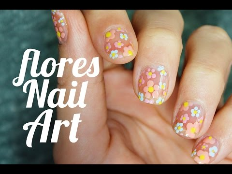 Como decorar las uñas con flores | negative space manicure