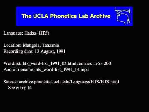 Hadza audio: hts_word-list_1991_14