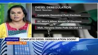 Market Pulse: Diesel Deregulation: Complete Decontrol Post Elections - BLOOMBERGUTV