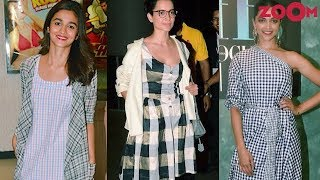 Bollywood celebrities with Checkered print trend | Fashion Friday - ZOOMDEKHO
