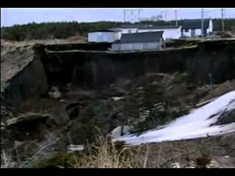 Landslide in Newfoundland Canada
