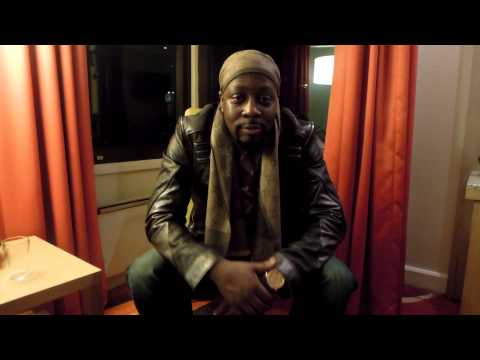 Wyclef Jean shout out for the Stockholm- Sweden show 14th Feb 2013 @ Cafe Opera