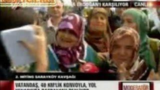 Beyaz TV Tayyip Erdoğanı karşılama töreninde teyzenin gafı Kılıçdarın Arkasındayık 09.06.2013