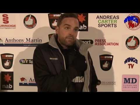 WingsTV Jody Brown after Welling United vs Alfreton Town