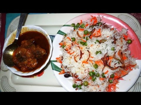 Urdu Recipe - Mutter Pullaw (मटर पुलाव) by SS-Mamma...