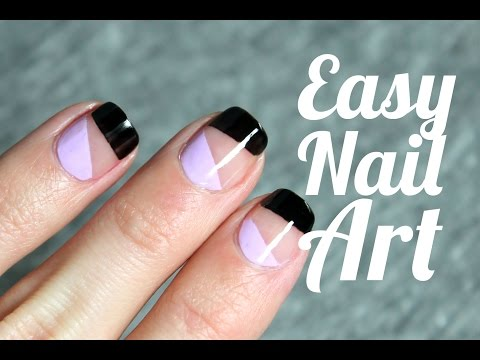 Negative Space Nail Art | Easy and quick manicure | ¡MUY FÁCIL!