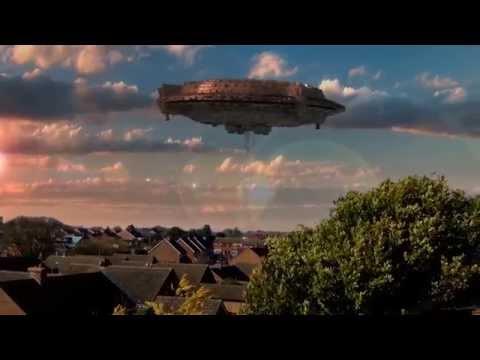 Alien Mothership UFO over Spixworth, Norfolk. Amazing footage. Cgi animation.
