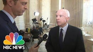 Senator John McCain Wants Bipartisan Process For Last-Ditch Obamacare Repeal Bill | NBC News - NBCNEWS