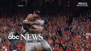 Houston Astros defeat the New York Yankees to win a spot in the 2017 World Series - ABCNEWS
