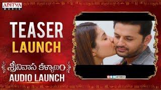 Srinivasa Kalyanam Teaser Launch | Srinivasa Kalyanam Audio Launch Live | Nithiin, Raashi Khanna - ADITYAMUSIC