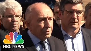 French Interior Minister Gerard Collomb Gives Details On Trebes Terror Attack | NBC News - NBCNEWS