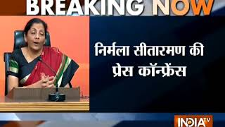 Defence Minister Nirmala Sitharaman addresses press conference on the PNB fraud case - INDIATV