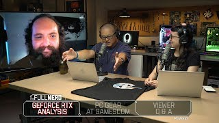 Nvidia GeForce RTX analysis, PC gear at Gamescom, and Q&A | The Full Nerd Ep. 64 - PCWORLDVIDEOS