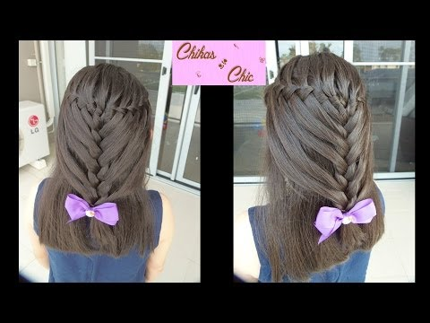 Peinado: Trenza de Cascada / Doble Trenza - Hairstyle: Waterfall Braid / Double Braid