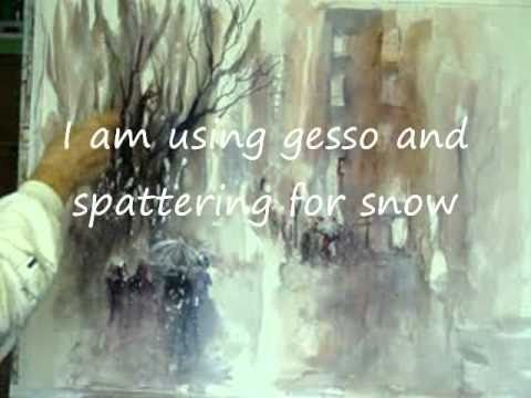 Millie Gift Smith Impressionistic Watercolor Painting