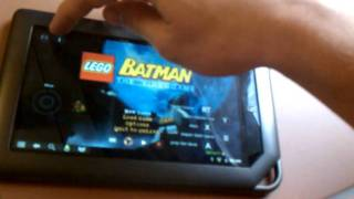 Nook Color Lego Batman OnLive (1of2) Android CM7 view on youtube.com tube online.