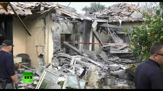 LIVE from site of Gaza rocket attack in Israel - RUSSIATODAY