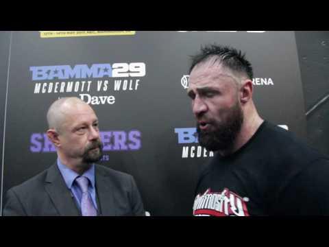 Post-Fight Interview with Barrow's Brett 'The Spartan' McDermott at BAMMA 29