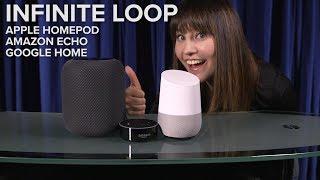 Apple HomePod, Amazon Echo, Google Home INFINITE LOOP - CNETTV