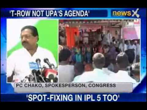 NewsX : Telangana Not part of UPA agenda - P C Chacko.