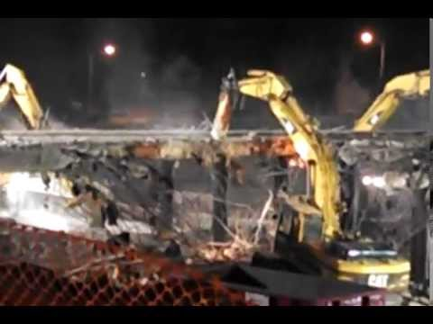Tearing down the 76th. St. bridge over I-94 Milwaukee 04-19-14.