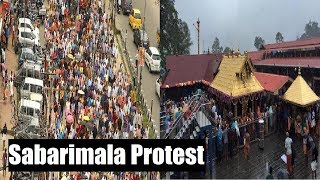 Sabarimala protest: Mega morcha in Kerala over Sabarimala entry row - NEWSXLIVE