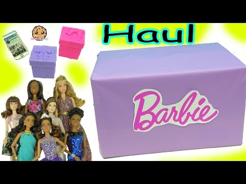 Giant Box of Barbie Dolls (Quinceañera, Pool Chic, Festival + More) Haul Video