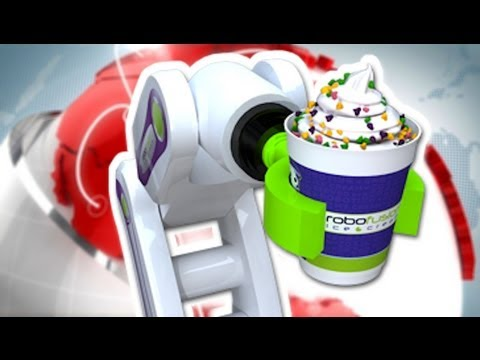 GELATAIO ROBOT: IN GIAPPONE IL GELATO VIENE SERVITO AUTOMATICAMENTE