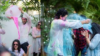 Allu Arjun, Niharika Konidela and others celebrate Holi || Happy Holi - IGTELUGU