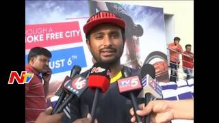 Make Hyderabad Drugs-Free City Says Ambati Rayudu || Wheelathon 2k17 || NTV - NTVTELUGUHD