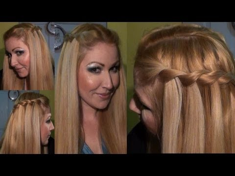 PEINADO trenza de cascada  WATERFALL twist braid  Hairstyle hair tutorial