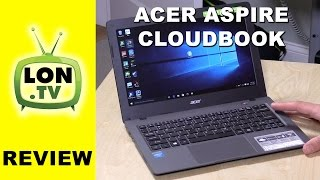 Acer Aspire One Cloudbook Review - $189 Low Cost Windows 10 Laptop Notebook PC