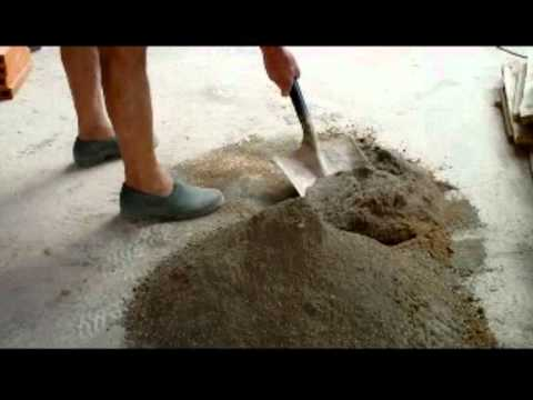 Cómo hacer mortero manualmente en el suelo.Vídeo nº 56