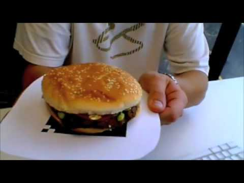 Augmented Reality  Burger King Whopper