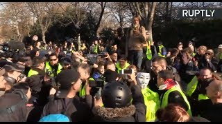 Yellow Vest protest in Paris: Act XIV - RUSSIATODAY
