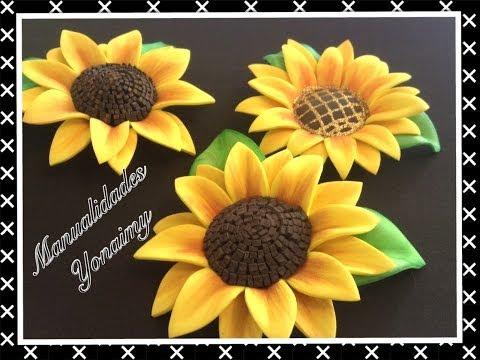 Цветы Подсолнух из фома, своими руками