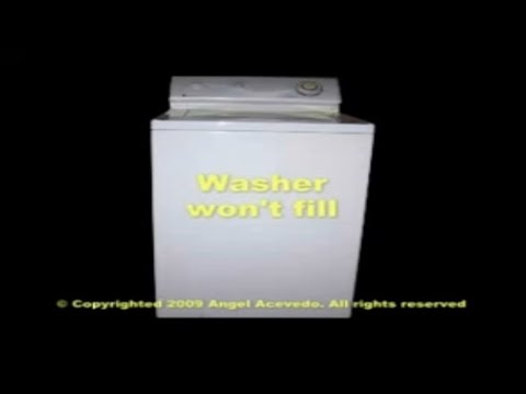 Maytag top load washer not filling