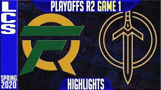 FLY vs GGS Highlights Game 1 | LCS Spring 2020 Playoffs Round 2 | FlyQuest vs Golden Guardians G1