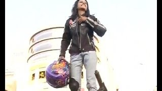 Watch the youngest female Biker Stunt chick of India in pune on Women's day - INDIATV