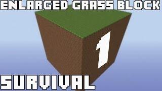 Выжить любой ценой - Часть 1 - Minecraft Enlarged Grass Block Survival
