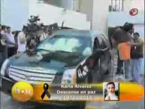 FUNERAL KARLA ALVAREZ FAMOSOS LE DAN EL ULTIMO ADIOS 18 NOVIEMBRE 2013