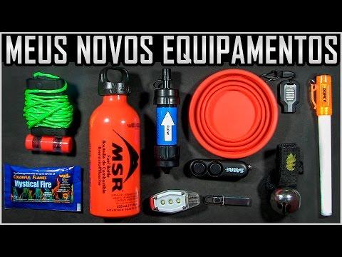 Meus Novos Equipamentos para Expedições, Sobrevivência e Camping
