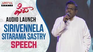 Sirivennela Sitarama Sastry Speech At Fidaa Audio Launch || Varun Tej, Sai Pallavi || Sekhar Kammula - ADITYAMUSIC